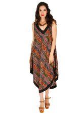 Robe longue d'été asymétrique et confortable Cristina 311613