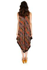 Robe longue d'été asymétrique et confortable Cristina 311614