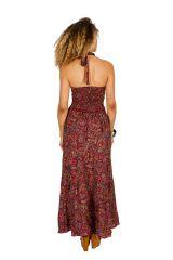 Robe longue d'été au dos nu imprimée et originale Jade 310282