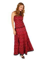 Robe longue d'été au top bustier bohème et chic Leila 310705