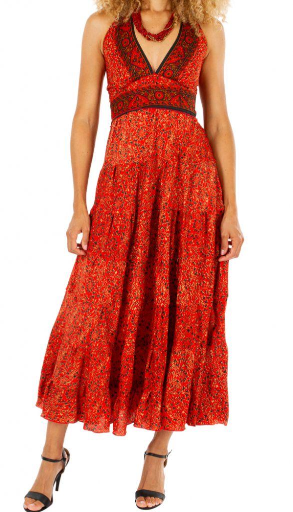 Robe longue d'été aux imprimés ethniques originaux Mily 310331