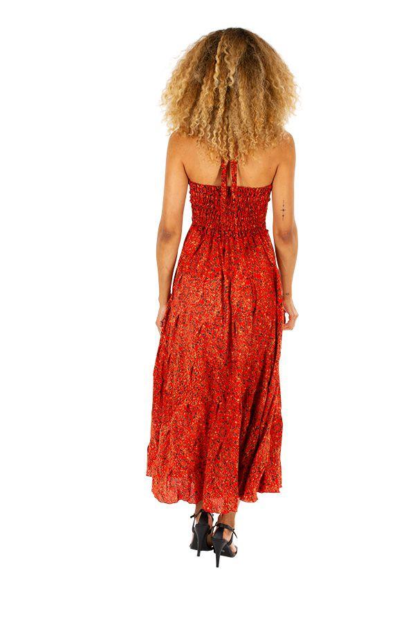 Robe longue d'été aux imprimés ethniques originaux Mily 310333