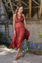 Robe longue d'été aux imprimés ethniques originaux Mily 310334