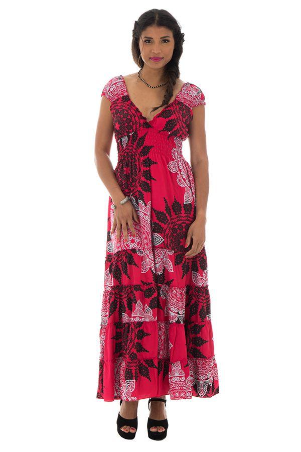 robe longue d'été avec décolleté pigeonnant et mandalas Tyra 289289
