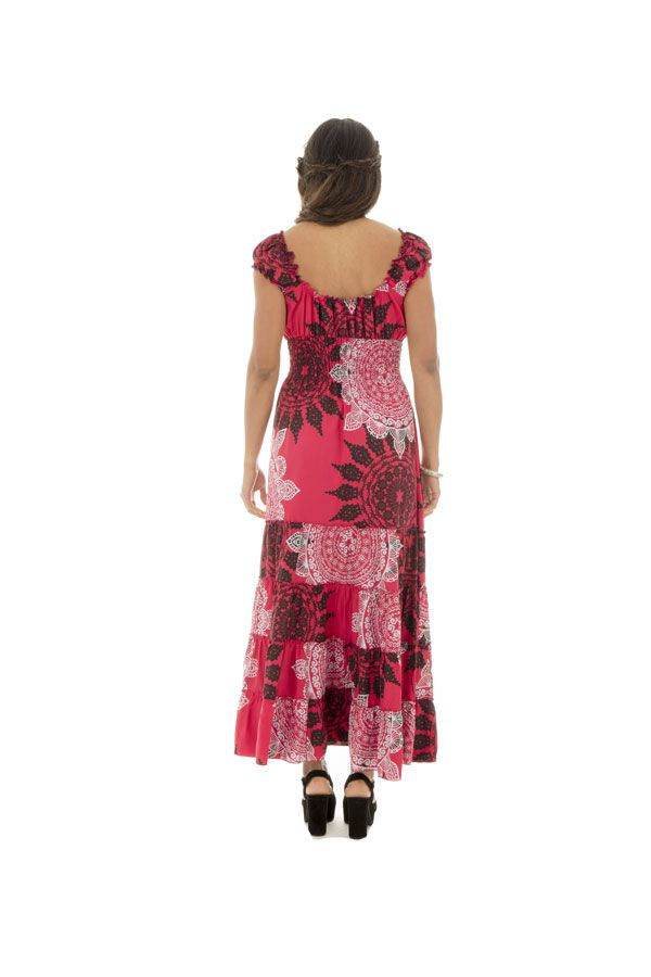 robe longue d'été avec décolleté pigeonnant et mandalas Tyra 289290