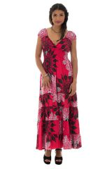robe longue d'été avec décolleté pigeonnant et mandalas Tyra 314271