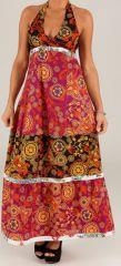 Robe longue d'été dos nu Originale et Colorée Yaima 279375