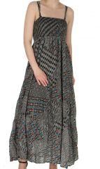 Robe longue d'été Ethnique et Africaine Fatoumia Noire 284290