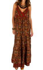 Robe longue d'été ethnique et très séduisante Eléonore 311496