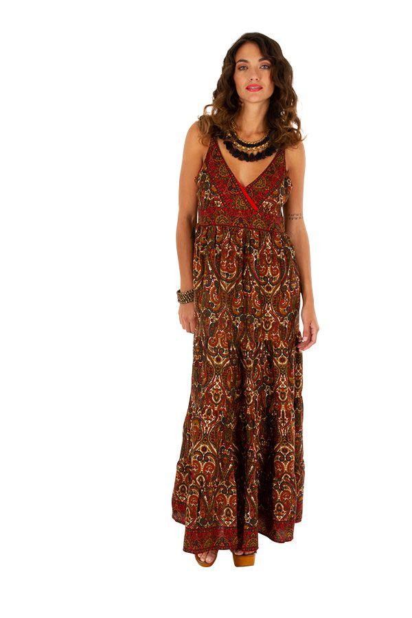 Robe longue d'été ethnique et très séduisante Eléonore 311497
