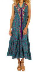 Robe longue d'été ethnique légère et agréable à porter Alice 311466