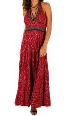Robe longue d'été ethnique originale et col en V Maram 310325