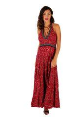 Robe longue d'été ethnique originale et col en V Maram 310326