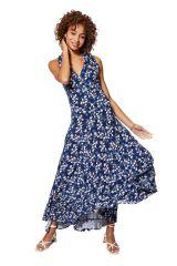 Robe longue d\'été féminine à imprimé fleurs style chic mariage Maïa