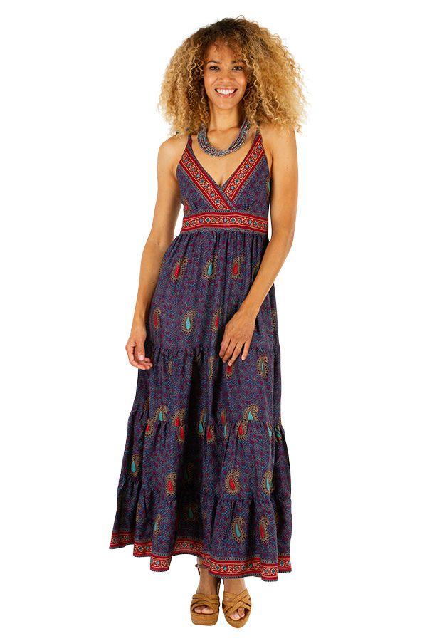 Robe longue d'été femme atypique et pas chère Mélissa 311500