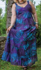 Robe longue d'été Grande Taille Originale et Colorée Béa Violette 284252