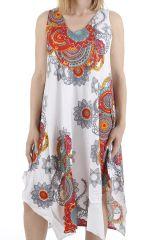 Robe longue d'été idéale pour la détente et col en V Anny 310677