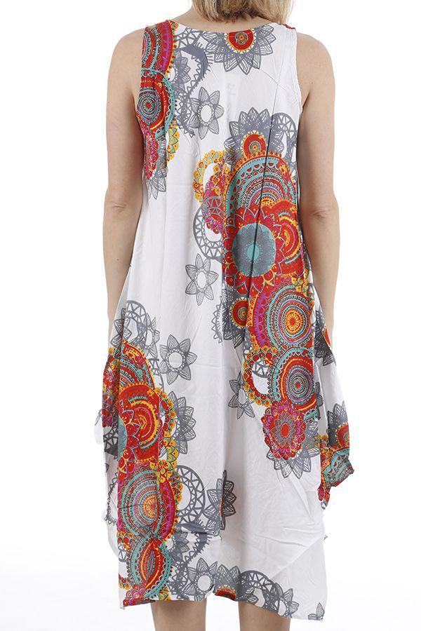 Robe longue d'été idéale pour la détente et col en V Anny 310678