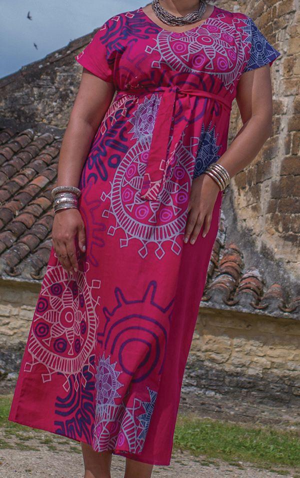 Robe longue d'été Imprimée et Colorée Kenzy Rose 284242