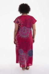 Robe longue d'été Imprimée et Colorée Kenzy Rose 284243