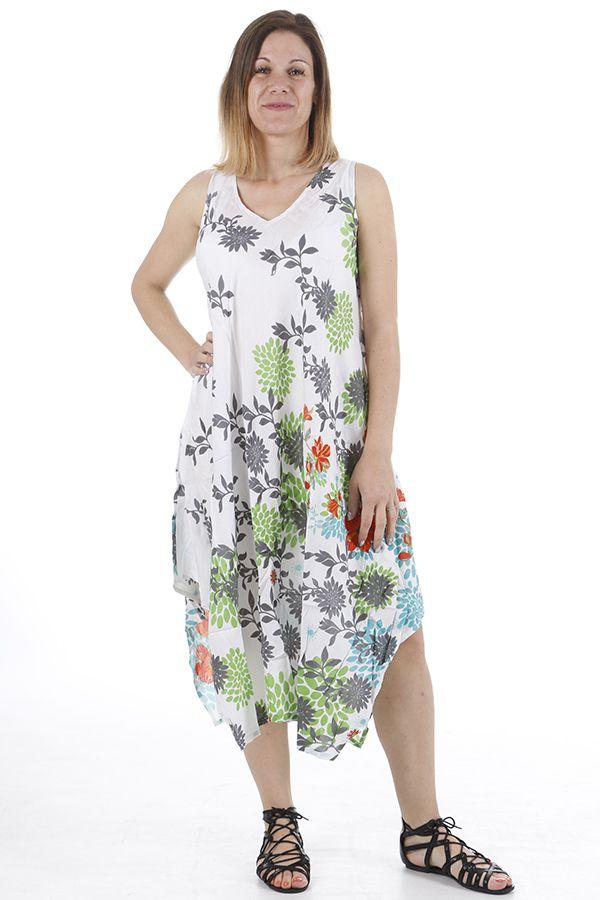 Robe longue d'été imprimée parfaite pour la plage Zoé 310673