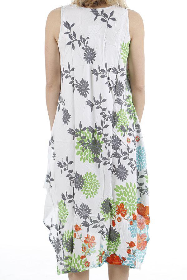 Robe longue d'été imprimée parfaite pour la plage Zoé 310675