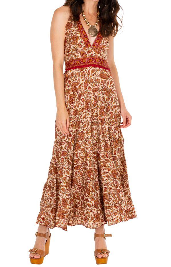 Robe longue d'été joliment imprimée et fraîche Maisha 310316
