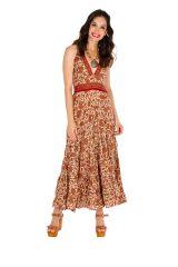 Robe longue d'été joliment imprimée et fraîche Maisha 310317