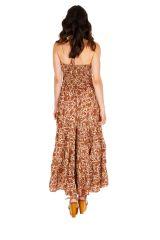 Robe longue d'été joliment imprimée et fraîche Maisha 310318