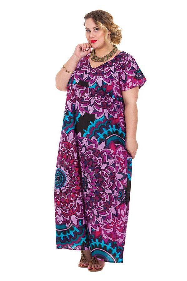 Robe longue d'été Kenzy Imprimée et Colorée à Mandalas 284248