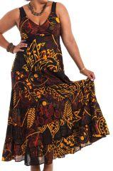 Robe longue d'été Noire Grande Taille Originale et Colorée Béa 284254