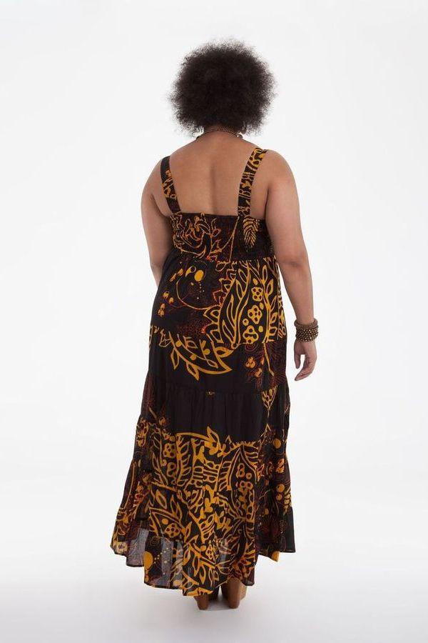 robe longue d 39 t noire grande taille originale et color e b a. Black Bedroom Furniture Sets. Home Design Ideas