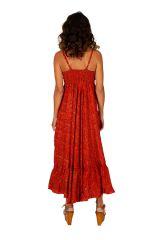 Robe longue d'été originale aux teintes chaudes Chiara 311477