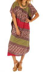 Robe longue d'été ou plage ample style hôtesse Ghinda rose 314497