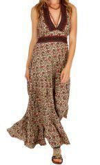 Robe longue d'été pour femme fabriquée en Inde Mandy 310322