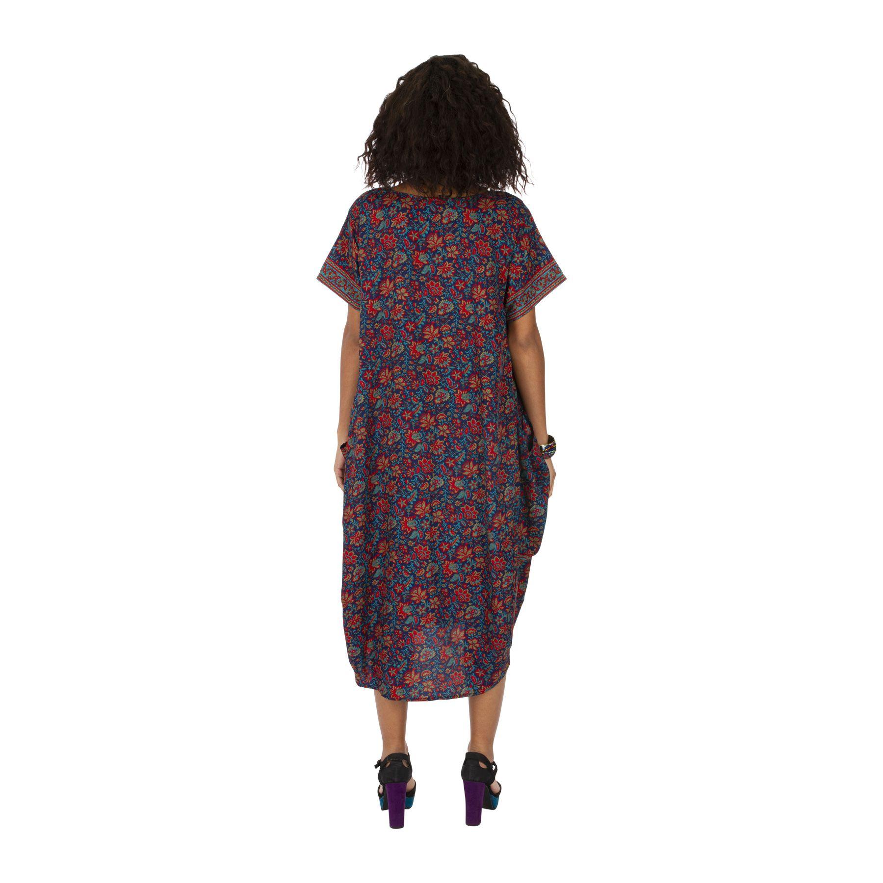 Robe longue d\'été pour femme fleurie type hôtesse Marina