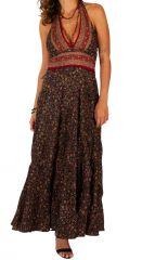 Robe longue d'été pour femme fluide et ethnique Clémence 310685