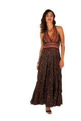 Robe longue d'été pour femme fluide et ethnique Clémence 310686