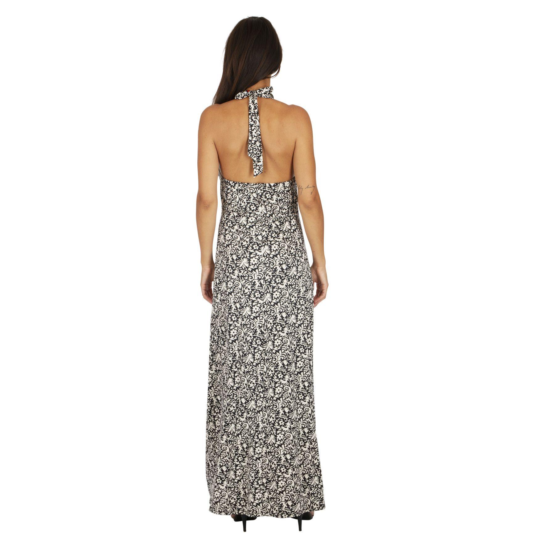 Robe longue d\'été pour femme originale au dos nu Maiwa