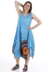 Robe longue d'été sans manches ethnique et colorée Lacy 310670