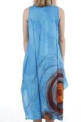 Robe longue d'été sans manches ethnique et colorée Lacy 310672