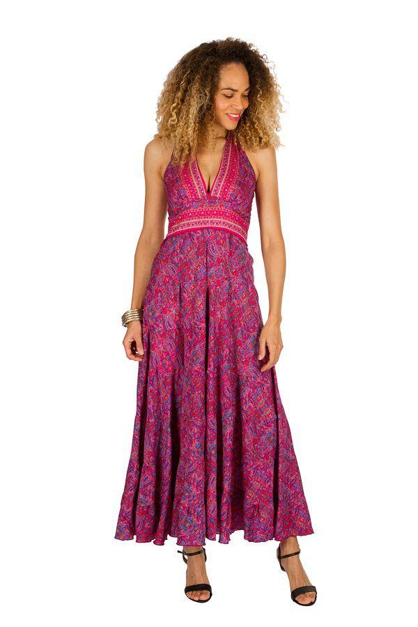 Robe longue d'été très colorée et confortable Ludivine 310266
