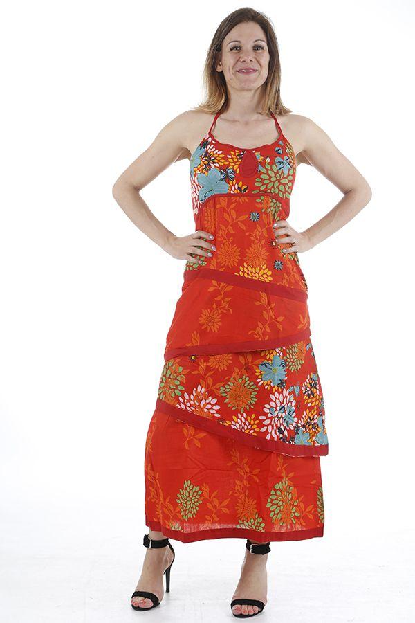 Robe longue d'été très colorée et originale Sabrina 310951