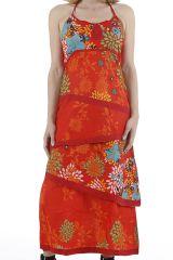 Robe longue d'été très colorée et originale Sabrina 310953