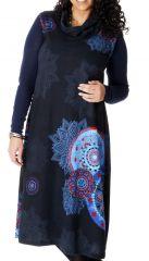 Robe longue d'hiver Noire en Grande taille et Sans manches Carley 286982