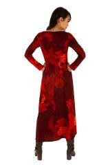 Robe longue d'hiver pour femme aux jolis motifs Albury 312678