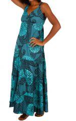 Robe longue de plage col V à bretelles femme Dana 310876