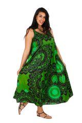 Robe longue de plage verte femme grande taille Monica 309587