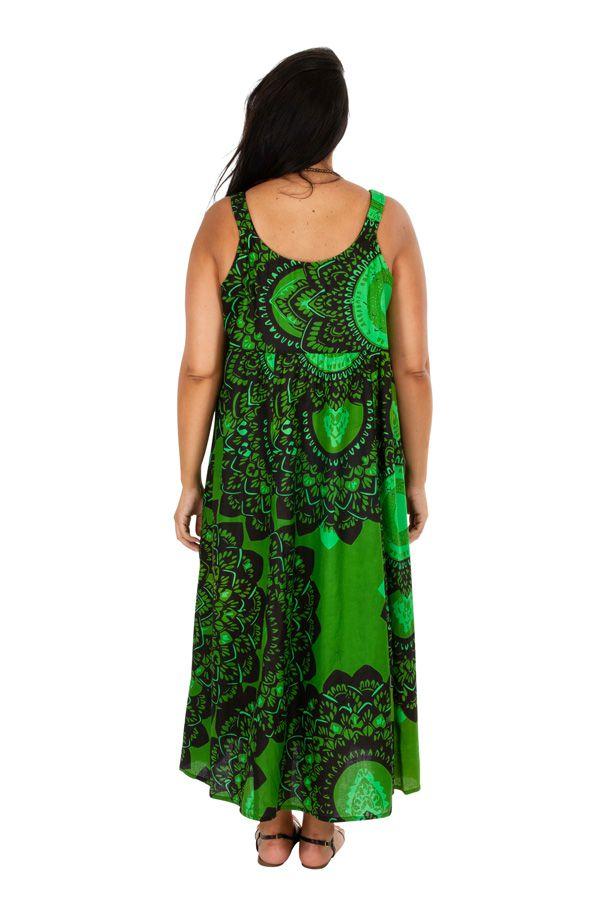 Robe longue de plage verte femme grande taille Monica 309588