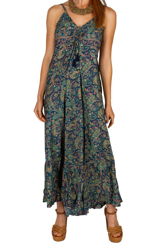 Robe longue décontractée avec un imprimé coloré Gladys 306050
